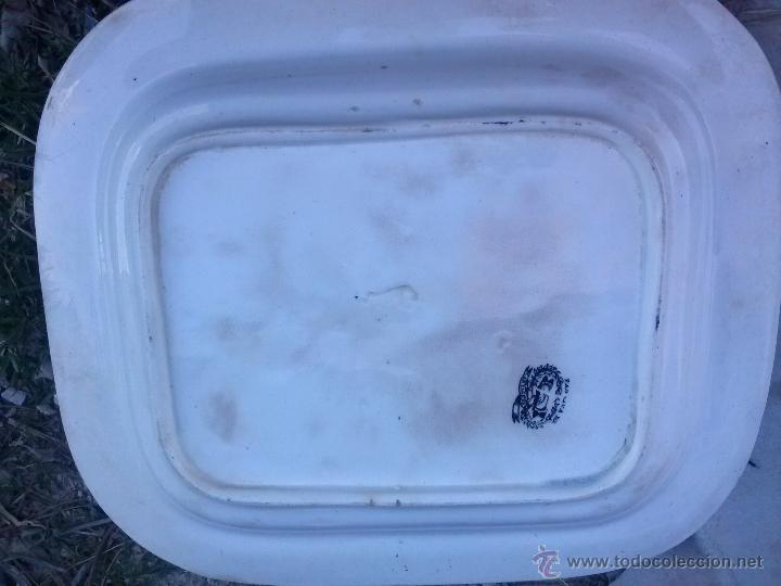 Antigüedades: antigua fuente o ensaladera de cartagena,escena del toro. sello inciso y tinta. - Foto 4 - 41589756