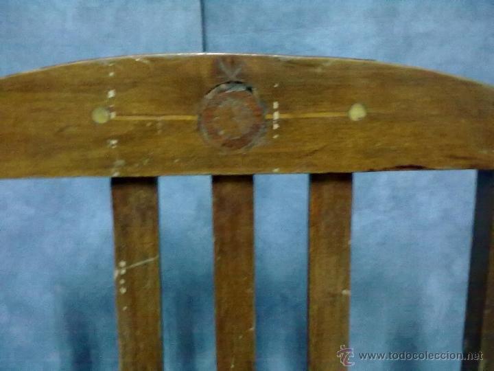 Antigüedades: PAREJA DE SILLAS MODERNISTAS CON MARQUETERIA PARA RESTAURAR - Foto 3 - 41603170