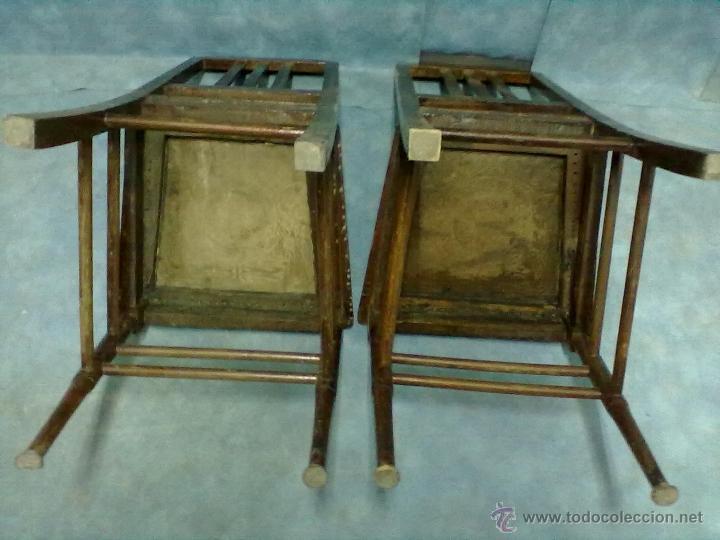 Antigüedades: PAREJA DE SILLAS MODERNISTAS CON MARQUETERIA PARA RESTAURAR - Foto 10 - 41603170