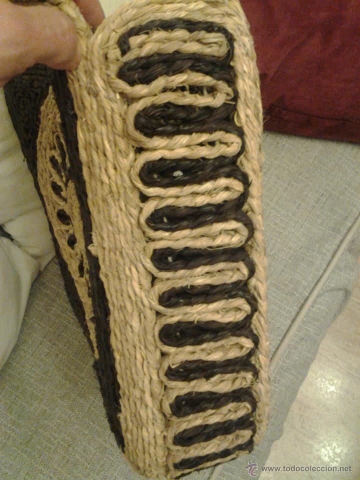 Antigüedades: Bolso/capazo de esparto. Artesanal. - Foto 2 - 41608943