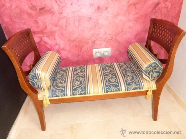 Sillon o div n de madera tallada tapizado y co comprar - Sillones de madera antiguos ...