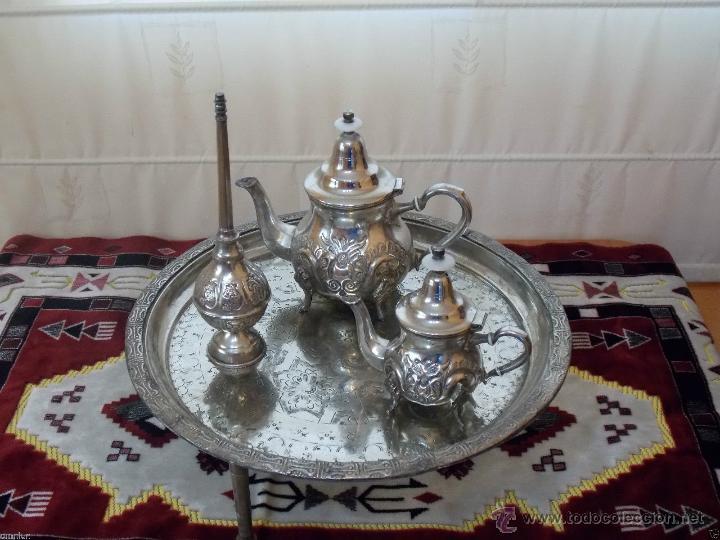 Juego tetera arabe antigua bandeja de te para comprar - Decoracion original hogar ...