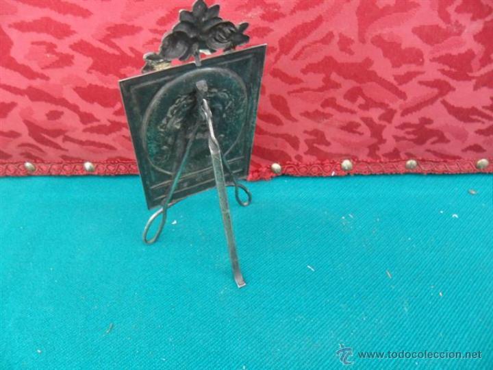Antigüedades: relicario de alpàca cristo - Foto 2 - 41638801