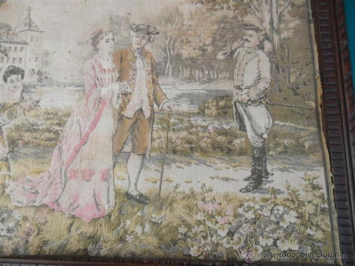 Antigüedades: pequeño tapiz - Foto 3 - 41641990