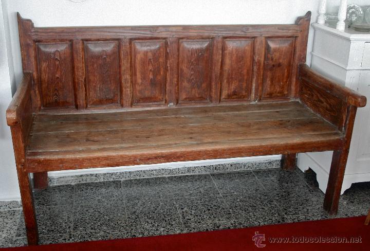 ESCAÑO. (Antigüedades - Muebles Antiguos - Sillones Antiguos)