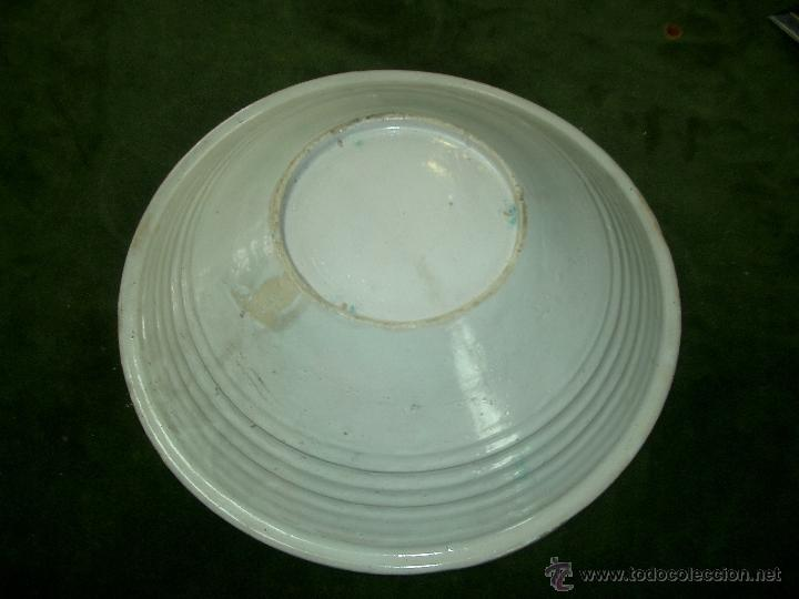 Antigüedades: Plato cuenco/fuente de novia cerámica Puente Arzobispo vegetales y roleos . S, XX- - Foto 2 - 41704805