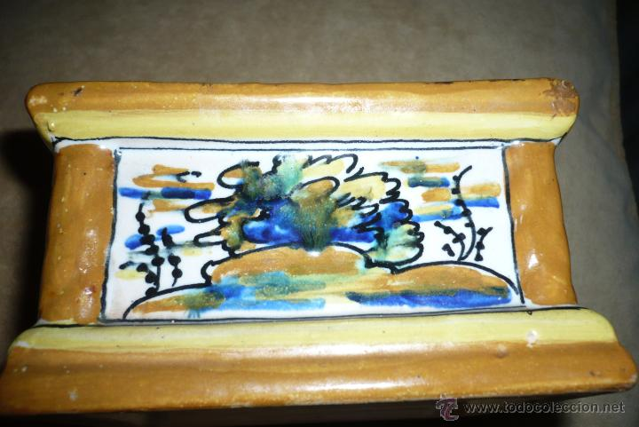 Antigüedades: Tintero ceramica Puente del arzobispo - Foto 2 - 41713211