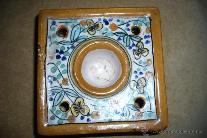 Antigüedades: Tintero ceramica Puente del arzobispo - Foto 3 - 41713211