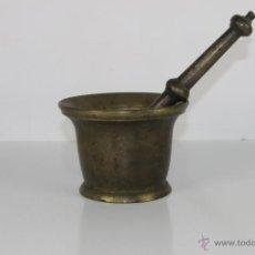 Antigüedades: AL-017. ALMIREZ EN BRONCE S. XIX. MEDIDAS: 10 CM. MORTERO: 24 CM. . Lote 41727176