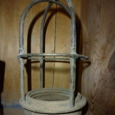 Antigüedades: FAROL DE BARCO , EN METAL. Lote 41735655