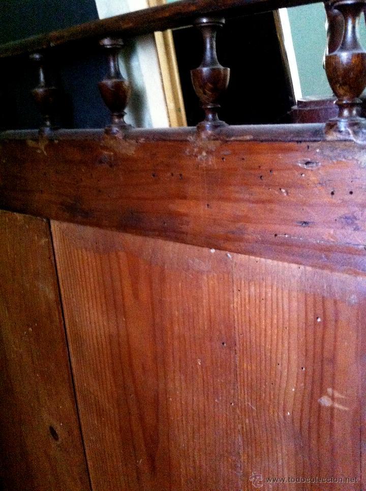 Antigüedades: Mueble tocador de madera noble con mármol circa 1850 - Foto 11 - 35730103