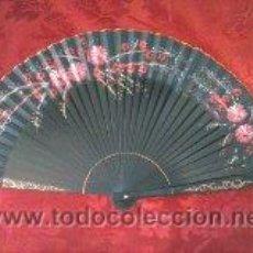 Antigüedades: ABANICO PINTADO A MANO MADERA. Lote 41741405