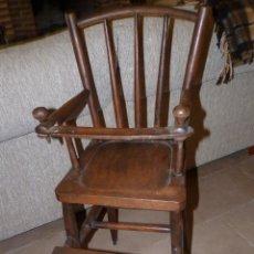 Antigüedades: MUEBLE ANTIGUO, TRONA DE NIÑO MUY ANTIGUA. Lote 41747486