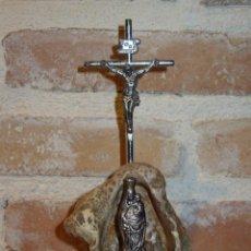 Antigüedades: PEQUEÑO ALTAR DE LA VIRGEN DEL PILAR CON CRUZ.. Lote 41750843