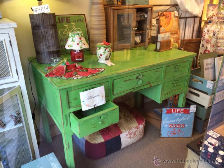 Antigua mesa de escritorio pintada con pintura comprar - Mesas de escritorio antiguas ...