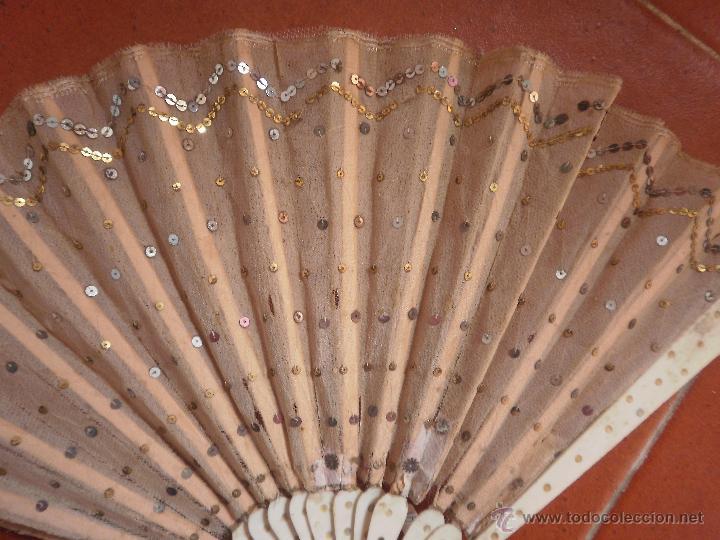 Antigüedades: Abanico antiguo de tul - Foto 2 - 41773619