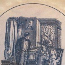Antigüedades: FUENTE AGALLONADA CARTAGENA LA AMISTAD ESCENAS GALANTES MATRIMONIO CON NIÑOS SOLDADO DAMA S.XIX. Lote 41783924