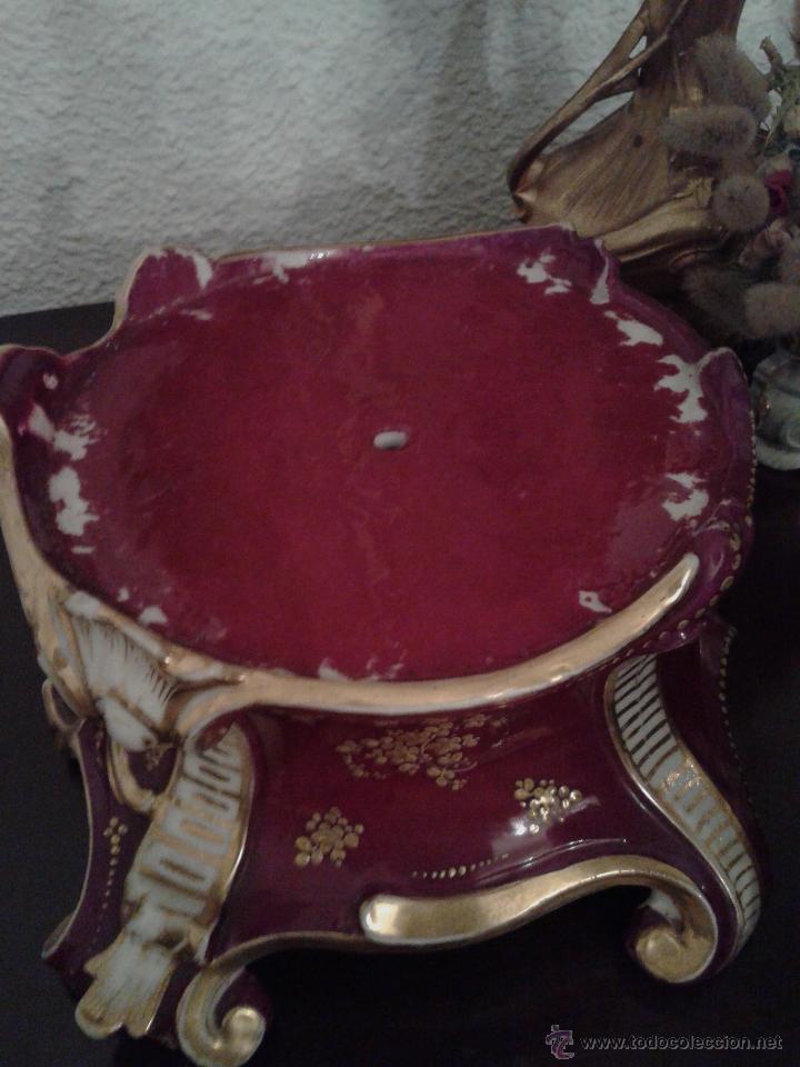 Antigüedades: PAREJA PORCELANAS ESMALTADAS Y POLICROMADAS VIEJO PARÍS.ÉPOCA 1850 TAMAÑO 48CM - Foto 8 - 267346534