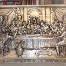 Antigüedades: ULTIMA CENA DE COBRE CON BAÑO DE PLATA. MEDIDA 75X45 CM.. Lote 41796761
