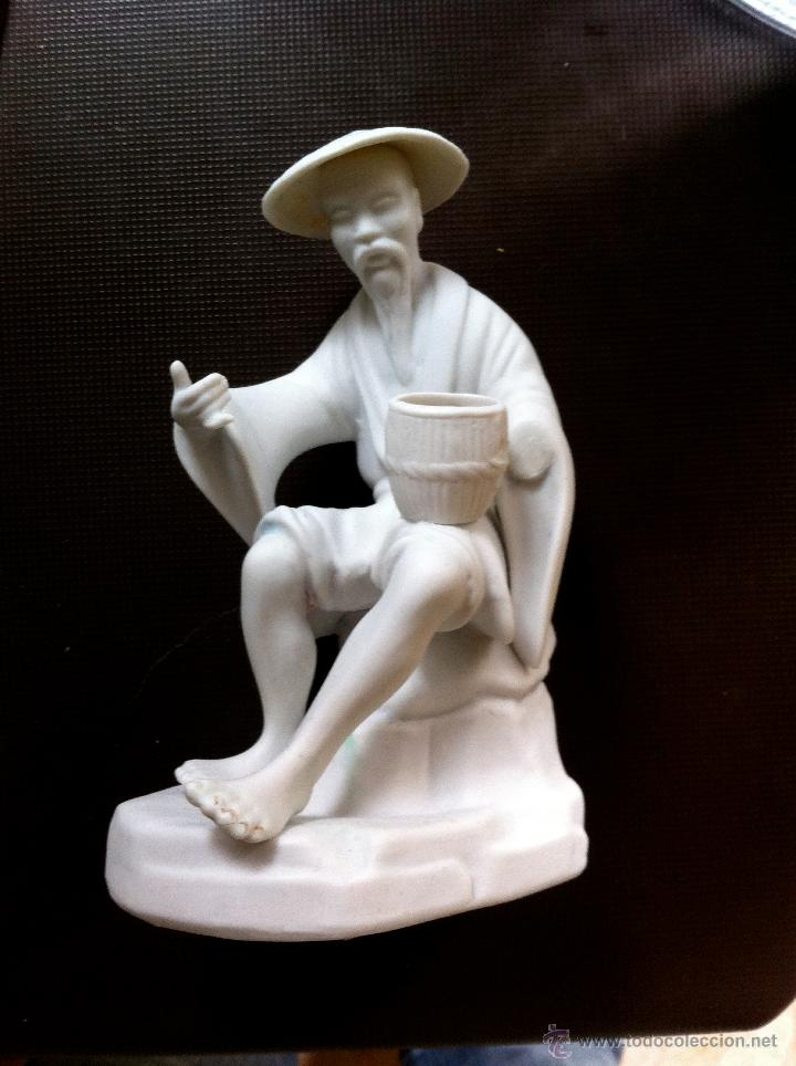 PORCELANA BISCUIT CEBREROS FIRMADA (Antigüedades - Hogar y Decoración - Figuras Antiguas)
