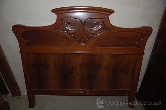 Cama modernista madera de nogal finales siglo comprar camas antiguas en todocoleccion 41800192 - Muebles el siglo ...