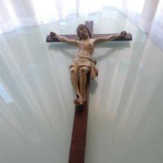 Antigüedades: CRISTO TALLADO EN MADERA, SIGLO XVIII-XIX. Lote 41806834