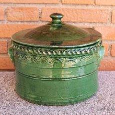 Antigüedades: MARMITA O CAZUELA DE CERAMICA DE UBEDA ALFAR DE TITO. Lote 108071600