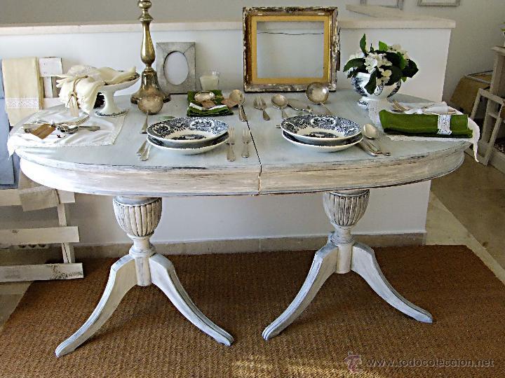 Mesas De Comedor Antiguas Restauradas Perfect Com Muebles - Mesas ...