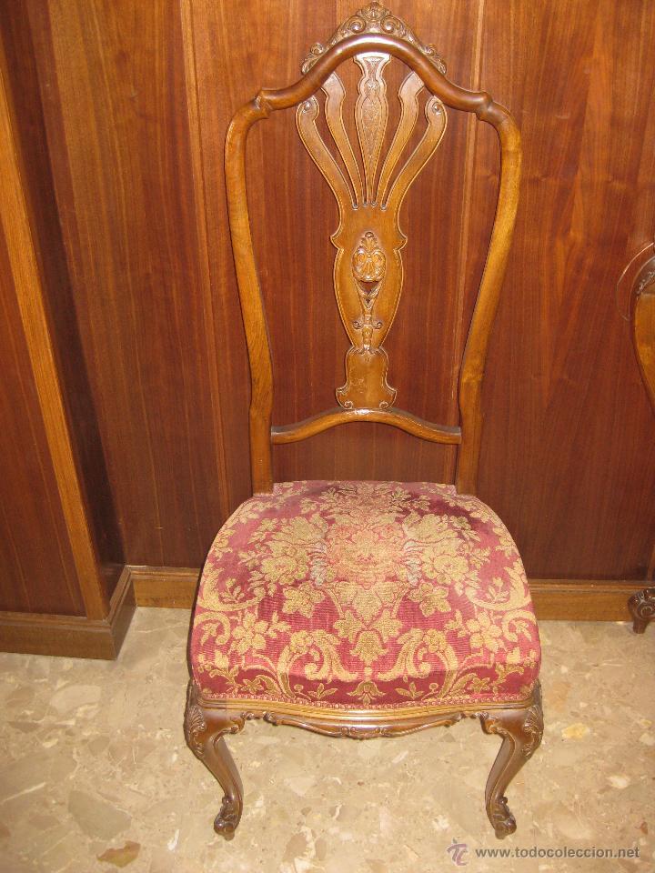 Juego de 6 sillas mueble valenciano estilo lui comprar - Muebles antiguos valencia ...