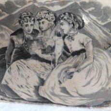 Antigüedades: SOPERA CARTEGENA LA AMISTAD ESCENA GALANTE CON ,DAMAS LEYENDO S. XIX. Lote 41819701
