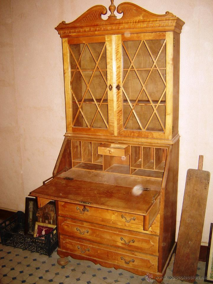 Mueble vitrina escritorio para restaurar ancho comprar for Mueble vitrina