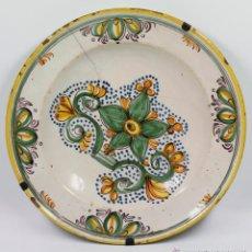 Antigüedades: GRAN PLATO DE CERÁMICA ANTIGUO S.XIX LAÑADO, 34 CM. DE DIÁMETRO, VER FOTOS.. Lote 41873260
