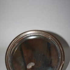 Antigüedades: ESPEJO CIRCULAR DE SOBREMESA,EN PLATA PUNZONADA, CON EL BORDE BISELADO, AÑOS 50 S. XX. Lote 41875242