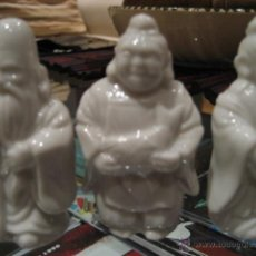 Antigüedades: 3 DIOSES DE LA FORTUNA. PORCELANA CHINA. Lote 41911641