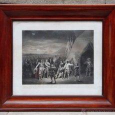 Antigüedades: GRAN MARCO DE CAOBA CURVADO ISABELINO 1860'S. EXTERIOR: 97X84 CM. LUZ: 74X61,5 CM.. Lote 41933874