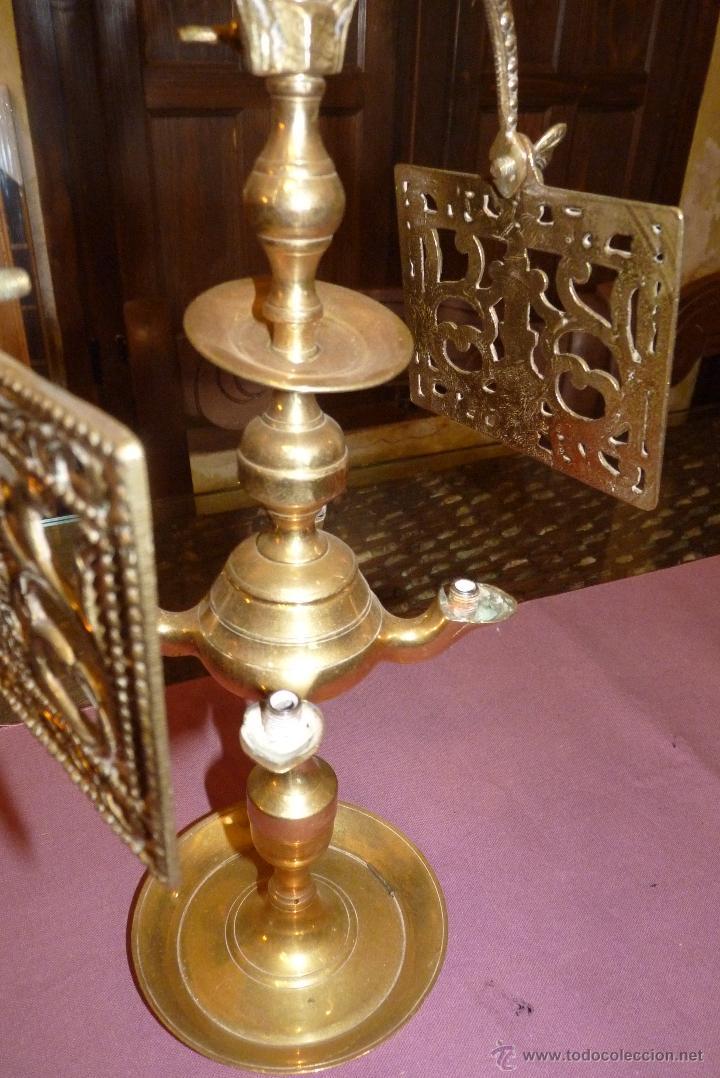 Antigüedades: PRECIOSO CANDELABRO ANTIGUO EN BRONCE - Foto 2 - 41934959