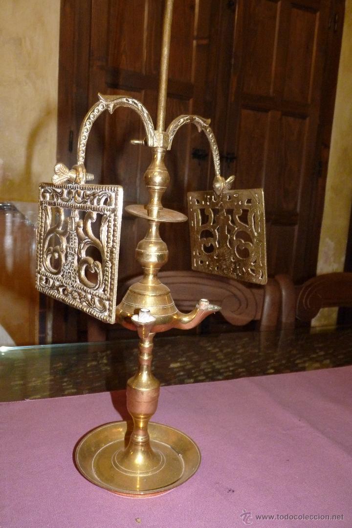 Antigüedades: PRECIOSO CANDELABRO ANTIGUO EN BRONCE - Foto 3 - 41934959
