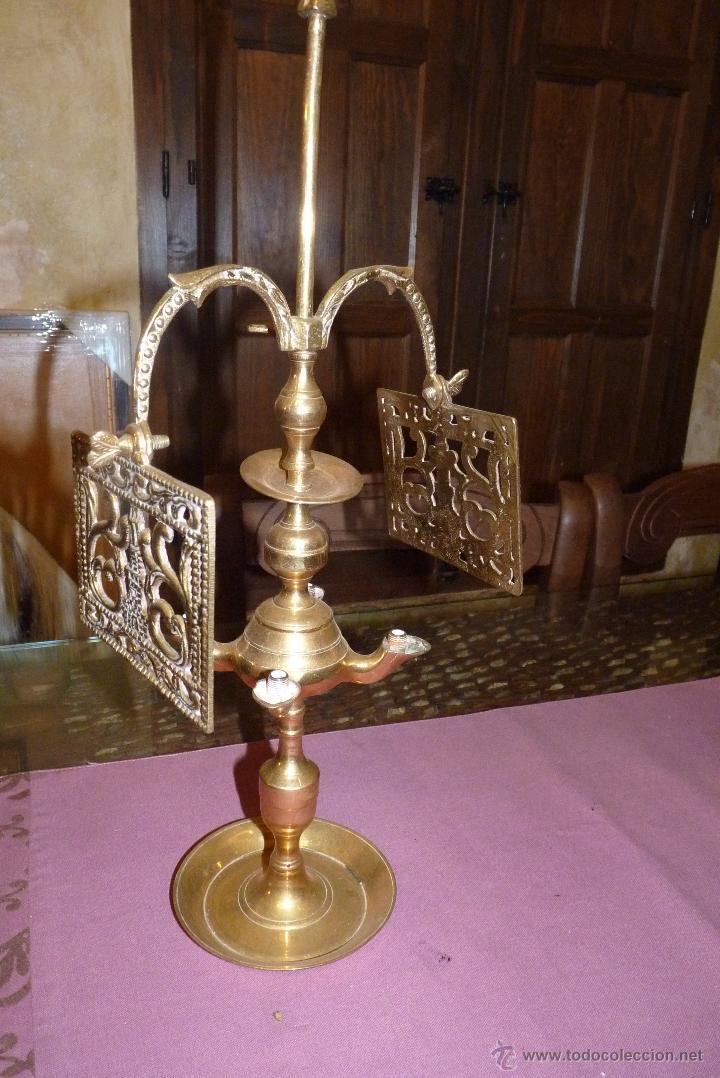 Antigüedades: PRECIOSO CANDELABRO ANTIGUO EN BRONCE - Foto 6 - 41934959