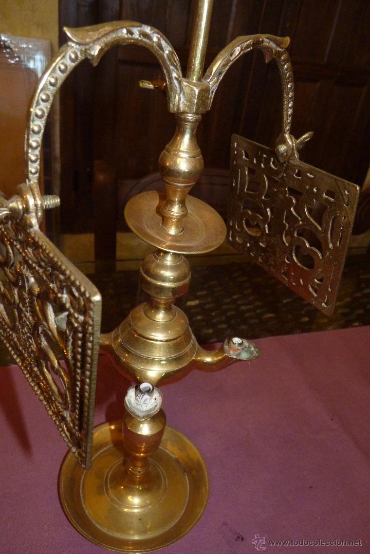 Antigüedades: PRECIOSO CANDELABRO ANTIGUO EN BRONCE - Foto 8 - 41934959