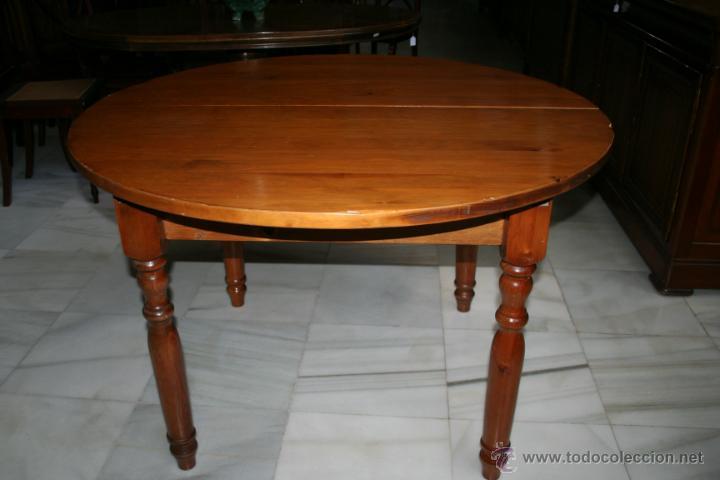 mesa redonda extensible, de comedor o auxiliar, - Kaufen Antike ...