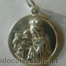 Antigüedades: ESCAPULARIO VIRGEN DEL CARMEN - SAGRADO CORAZON DE PLATA DE LEY - 21MM. Lote 278326793