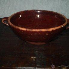 Antigüedades: CUENCO DE BARRO COCIDO Y VIDRIADO. Lote 41970633