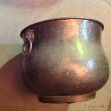 Antigüedades: GRAN MACETERO DE LATÓN . Lote 41987359