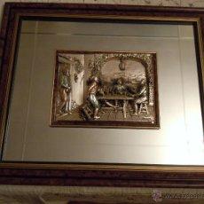 Antigüedades: RELIEVE CON PLATEADO ARG 925 Y ESPEJO DE CREAZIONE ARTISTICHE. Lote 42002550