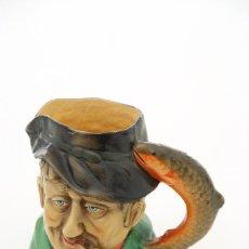Antigüedades: JARRA DE CERVEZA ANTIGUA EN FORMA DE PESCADOR, TOBY JUG. Lote 42014755