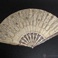 Antigüedades: ABANICO SIGLO XIX, ACERO PULIDO Y MARFIL. Lote 42023104