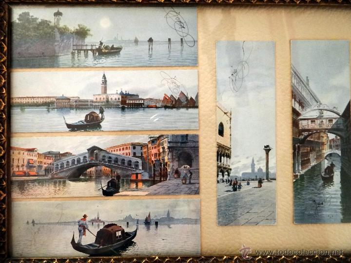 venecia, antiguo marco con postales coloreadas - Comprar Marcos ...