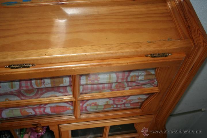Antigüedades: aparador o mueble de madera de pino - Foto 3 - 36384810
