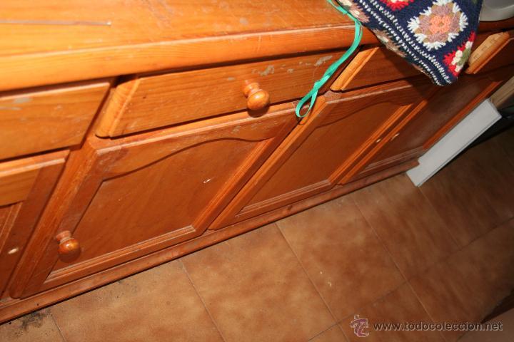 Antigüedades: aparador o mueble de madera de pino - Foto 4 - 36384810