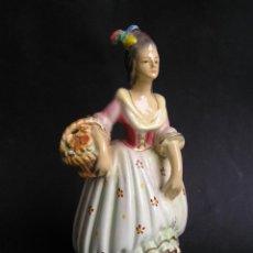 Antigüedades: FIGURA DE MARÍA ANTONIETA. ESTUCO POLICROMADO-LACADO. S XIX.. Lote 42011321